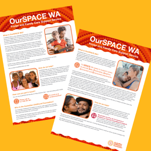 OurSPACE WA Info sheets
